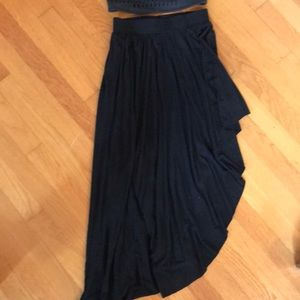 Free People Hi-Lo asymmetrical skirt.